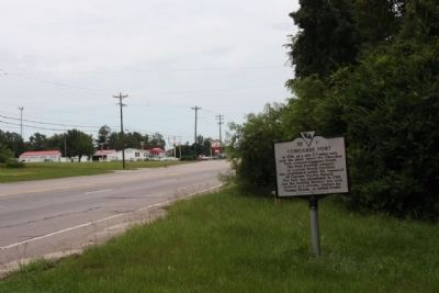 Congaree Fort Marker, looking northbound along Charleston Hwy (US 176, US 321, US 21) image. Click for full size.