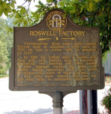 Roswell Factory Marker image. Click for full size.
