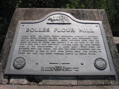 Bolles Flour Mill Marker image. Click for full size.
