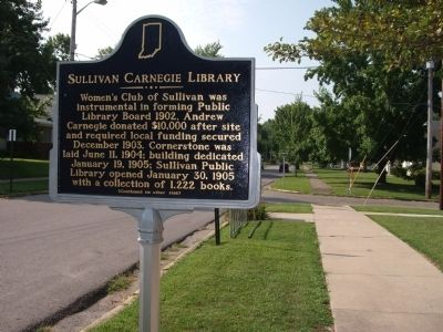 Long View Side A - - Sullivan Carnegie Library Marker image. Click for full size.