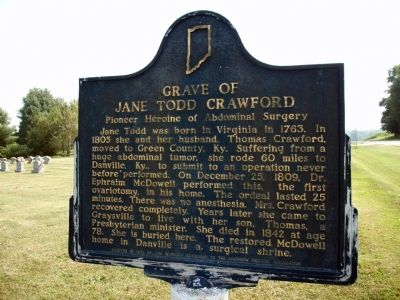 Grave of Jane Todd Crawford Marker image. Click for full size.