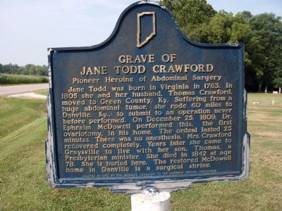 Other Side - - Grave of Jane Todd Crawford Marker image. Click for full size.