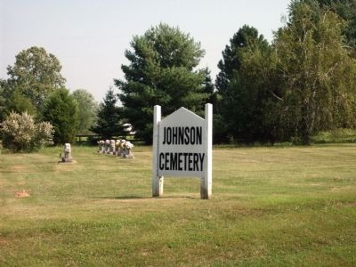 Johnson Cemetery - Sign image. Click for full size.