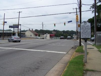 Barnwell Street Marker, looking east at intersection Gervais and Barnwell Streets image. Click for full size.