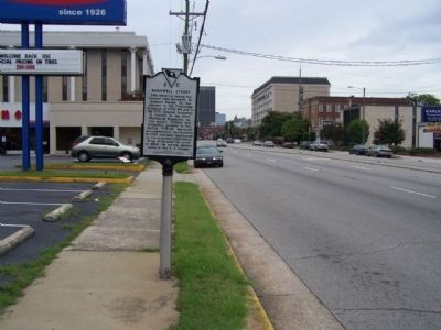 Barnwell Street Marker, looking wet along Gervais Street image. Click for full size.
