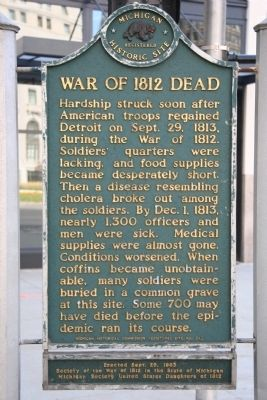 War of 1812 Dead Marker image. Click for full size.