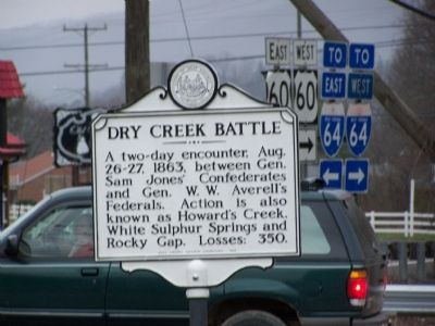 Dry Creek Battle Marker image. Click for full size.
