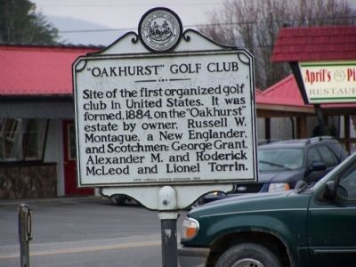 """Oakhurst"" Golf Club Marker image. Click for full size."