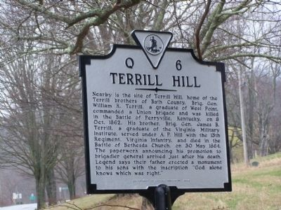 Terrill Hill Marker image. Click for full size.