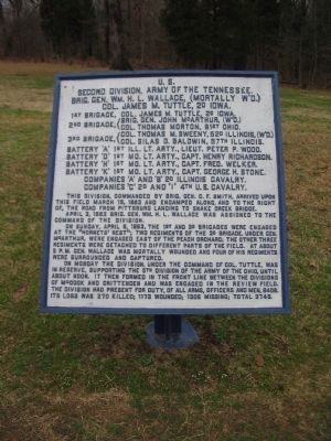 Second Division, Army of the Tennessee Tablet image. Click for full size.