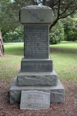 Battle of Eutaw Marker image. Click for full size.