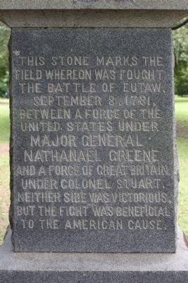 Battle of Eutaw Marker close-up image. Click for full size.