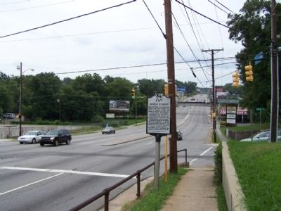 Gregg Street Marker, looking east along Gervais Street image. Click for full size.