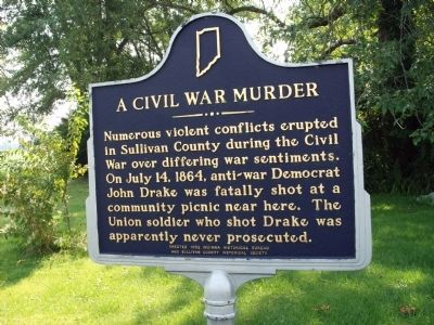 A Civil War Murder Marker image. Click for full size.