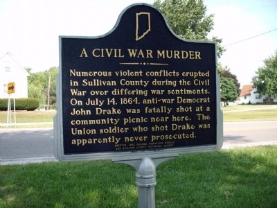Other Side - - A Civil War Murder Marker image. Click for full size.