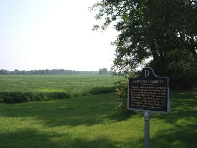 Close - Looking North/East - - A Civil War Murder Marker image. Click for full size.