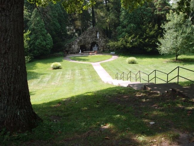 "The ""Grotto"" - - A short Walk from the First Providence Convent Marker. image. Click for full size."