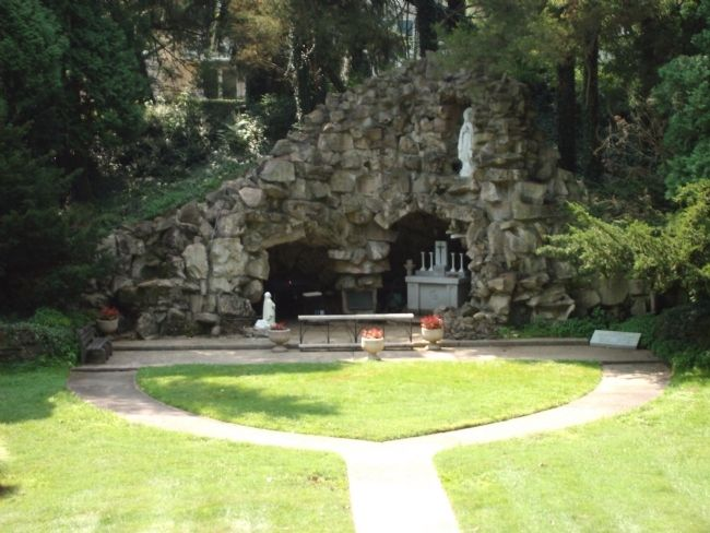 "Closer View - - The ""Grotto"" - - A short Walk from the First Providence Convent Marker. image. Click for full size."