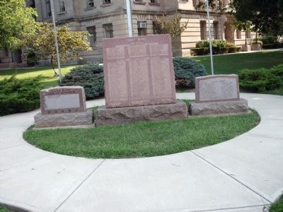 Front View - - All Three War Memorials image. Click for full size.