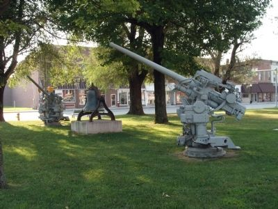 Looking North/East - - Bell & Anti-Aircraft Gun image. Click for full size.