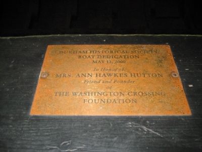 The Durham Boat - Dedication Plaque image. Click for full size.