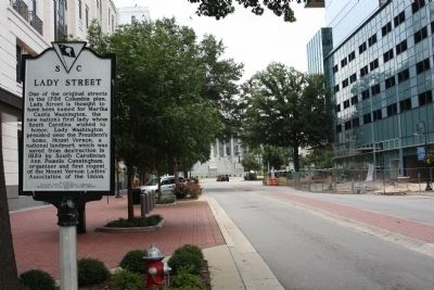Lady Street Marker, looking south towards State Capital Building image. Click for full size.