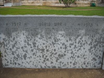 World War I Names image. Click for full size.