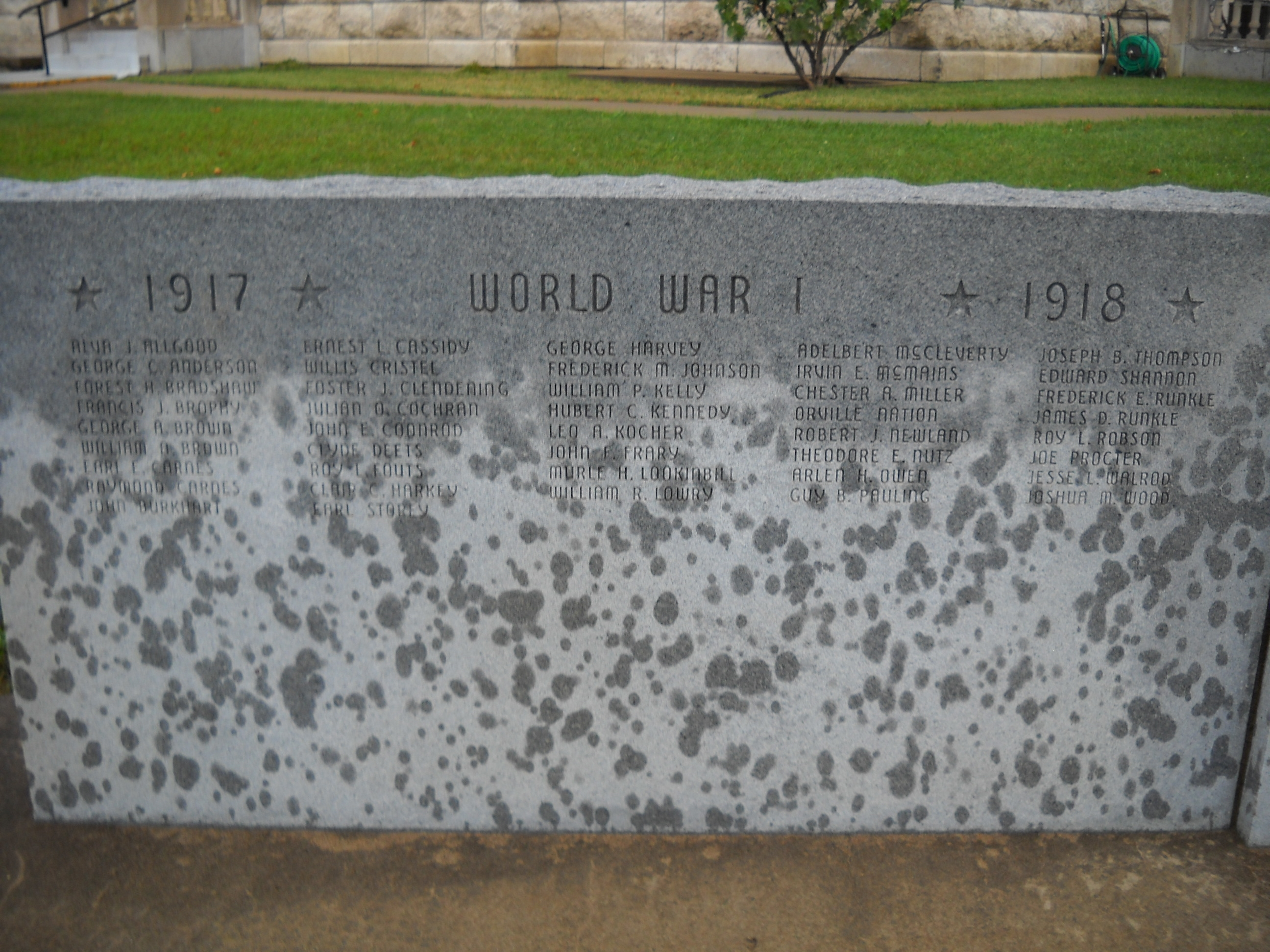 World War I Names