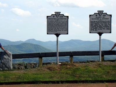 Two Markers at the Scenic Overlook image, Touch for more information