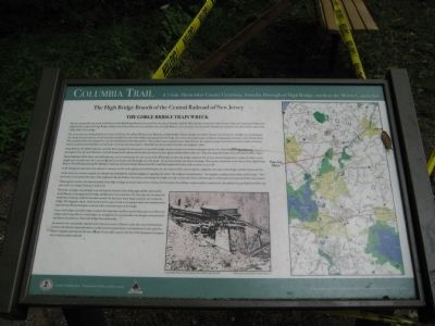 The Gorge Bridge Train Wreck Marker image. Click for full size.