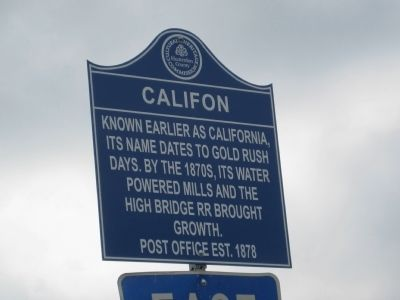 Califon Marker image. Click for full size.