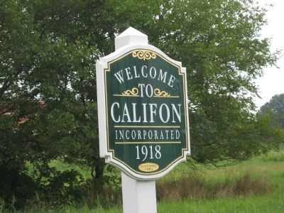 Additional Califon Marker image. Click for full size.