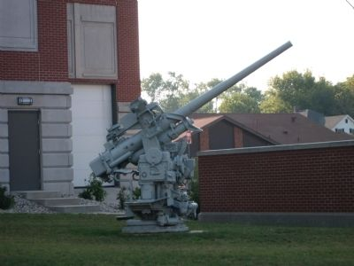 One of the Anti-Aircraft Guns - - South/West Side of Courthouse image. Click for full size.