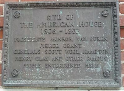 The American House Marker image. Click for full size.