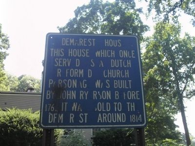 Demarest House Marker image. Click for full size.