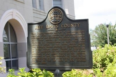 Jeff Davis County Marker image. Click for full size.