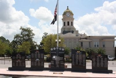 Jeff Davis County Veterans Memorial, at Courthouse image. Click for full size.