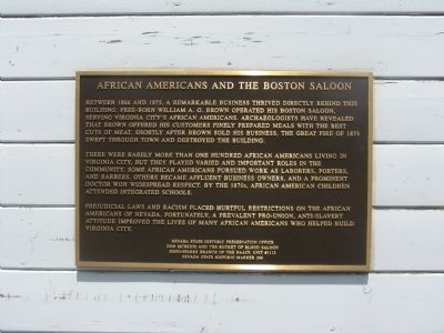 African Americans And The Boston Saloon Marker image. Click for full size.