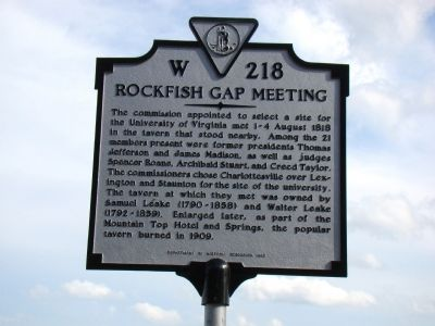 Rockfish Gap Meeting Marker image. Click for full size.