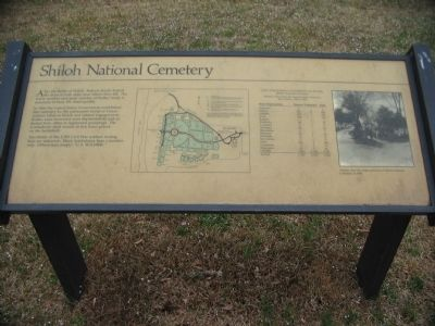 Shiloh National Cemetery Marker image. Click for full size.