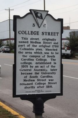 College Street Marker image. Click for full size.