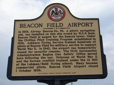 Beacon Field Airport Marker image. Click for full size.