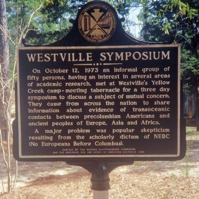 Side 1: Westville Symposium Marker image. Click for full size.