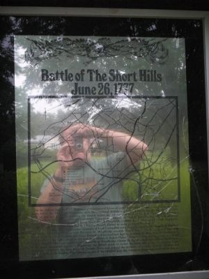 Battle of The Short Hills Marker image. Click for full size.
