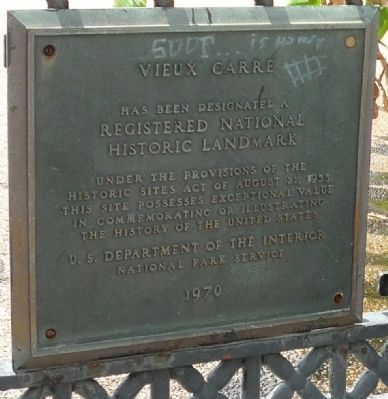 Jackson Square - Vieux Carré Marker (Panel 2) image. Click for full size.