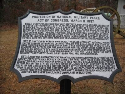 Protection of the National Military Parks image. Click for full size.