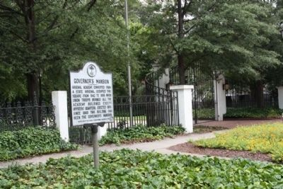 Governor's Mansion Marker image. Click for full size.