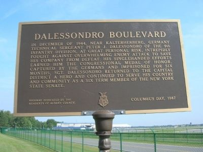 Dalessondro Boulevard Marker - Albany, New York image. Click for full size.