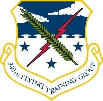 340th Flying Training Group Emblem image. Click for full size.