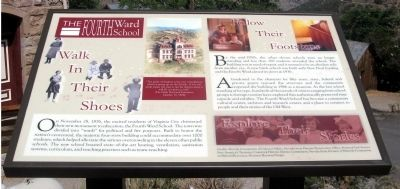 The Fourth Ward School Marker image. Click for full size.